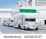 a fleet of self driving...   Shutterstock . vector #1023615127