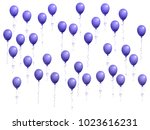 balloons group isolated vector... | Shutterstock .eps vector #1023616231