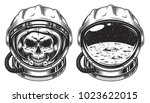 skull in space helmet with star.... | Shutterstock .eps vector #1023622015