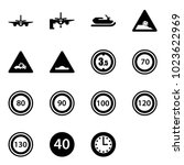 solid vector icon set   plane...   Shutterstock .eps vector #1023622969