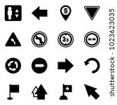 solid vector icon set  ... | Shutterstock .eps vector #1023623035