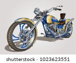 classic vintage motorcycle. | Shutterstock .eps vector #1023623551