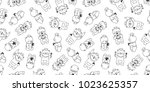 bear polar bear seamless... | Shutterstock .eps vector #1023625357