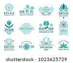 floral logotypes for beauty and ... | Shutterstock .eps vector #1023625729