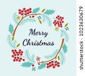 merry christmas hand lettering...   Shutterstock .eps vector #1023630679