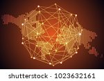 abstract technology concept... | Shutterstock .eps vector #1023632161