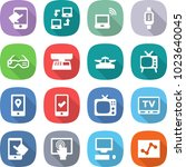 flat vector icon set   touch... | Shutterstock .eps vector #1023640045