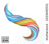 abstract vector digital color... | Shutterstock .eps vector #1023640531