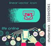 vector money and atm icon.... | Shutterstock .eps vector #1023642061