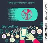 pie chart line icon. | Shutterstock .eps vector #1023642091
