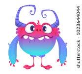 cute cartoon monster. vector ... | Shutterstock .eps vector #1023644044