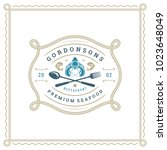 seafood restaurant logo vector... | Shutterstock .eps vector #1023648049
