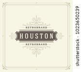 ornament logo design template... | Shutterstock .eps vector #1023650239