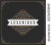 ornament logo design template...   Shutterstock .eps vector #1023650845