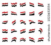 egypt flag  vector illustration | Shutterstock .eps vector #1023653554