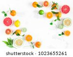 fruit background. colorful... | Shutterstock . vector #1023655261