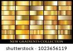 gold gradient set background... | Shutterstock .eps vector #1023656119