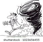 vector illustration of tornado... | Shutterstock .eps vector #1023656455