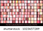 rose gold gradient set... | Shutterstock .eps vector #1023657289