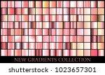rose gold gradient set... | Shutterstock .eps vector #1023657301