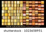 gold bronze gradient set... | Shutterstock .eps vector #1023658951