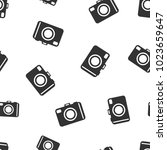 camera icon seamless pattern... | Shutterstock .eps vector #1023659647