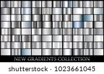 silver gradient set background... | Shutterstock .eps vector #1023661045