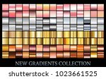 gold rose bronze silver... | Shutterstock .eps vector #1023661525