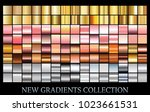 gold  rose  silver  bronze... | Shutterstock .eps vector #1023661531