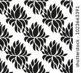ornamental seamless floral... | Shutterstock .eps vector #1023663391