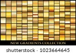 gold bronze gradient set... | Shutterstock .eps vector #1023664645