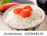 pollack roe.japanese food   Shutterstock . vector #1023668134