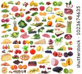 global gastronomy collage on...   Shutterstock . vector #1023674635