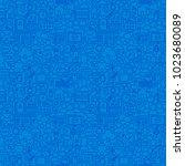social media line seamless... | Shutterstock .eps vector #1023680089