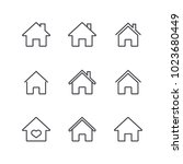home icon set | Shutterstock .eps vector #1023680449