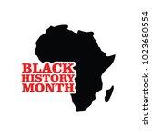 black history month vector... | Shutterstock .eps vector #1023680554