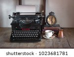 details of still life in the... | Shutterstock . vector #1023681781