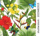 seamless pattern  background... | Shutterstock .eps vector #1023682315