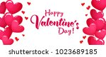 valentines day sale horizontal... | Shutterstock . vector #1023689185