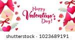 valentines day sale horizontal...   Shutterstock . vector #1023689191