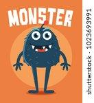 monster with long legs | Shutterstock .eps vector #1023693991