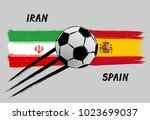 flags of iran and spain   icon... | Shutterstock .eps vector #1023699037