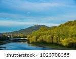 panorama with river po and... | Shutterstock . vector #1023708355