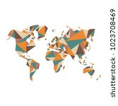 Abstract World Map   Vector...