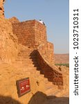 Small photo of Al-Ula, Saudi Arabia - September 23, 2017: Stairs leading to the AlUla Fort