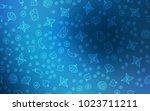 dark blue vector texture with...   Shutterstock .eps vector #1023711211