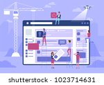 web design and development.... | Shutterstock .eps vector #1023714631