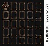 big set of art deco borders and ... | Shutterstock .eps vector #1023714724
