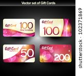 set of four shiny gift cards | Shutterstock .eps vector #102371869