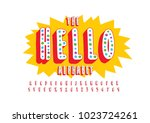 vector of stylized playful font ... | Shutterstock .eps vector #1023724261